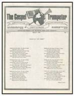 first issue of The Gospel Trumpeter, published by the Church of God, God's Acres